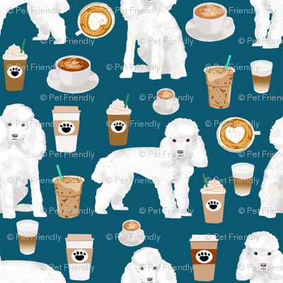 toy poodle coffee fabric dogs toy breed fabrics coffees