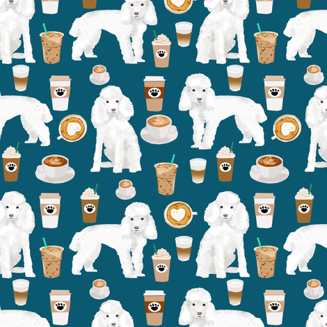 toy poodle coffee fabric dogs toy breed fabrics coffees fabric by petfriendly on Spoonflower - custom fabric