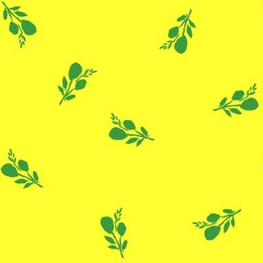 """8"""" Flamingo Park Green Branches - Bright Yellow"""