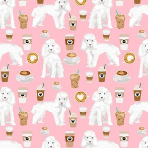 toy poodle coffee fabric dogs toy breed fabrics coffees - pink