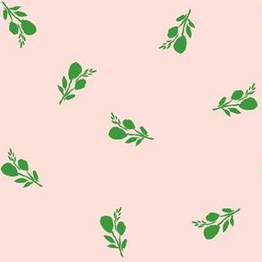 "8"" Flamingo Park Green Branches - Dark Pink"