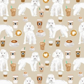 toy poodle coffee fabric dogs toy breed fabrics coffees - sand