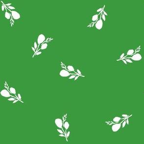 "8"" Flamingo Park White Branches - Green"