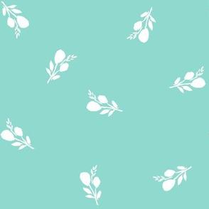 "8"" Flamingo Park White Branches / Light Aqua"