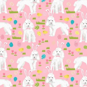 toy poodle  easter fabric spring pastel easter egg - pink