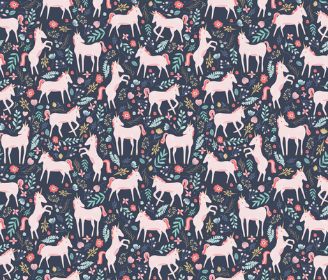 Unicorn Fields fabric by shelbyallison on Spoonflower - custom fabric