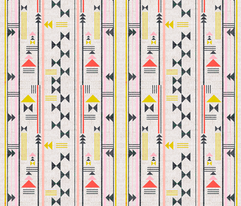 FRENCH_LINEN_TAOS_GEO fabric by holli_zollinger on Spoonflower - custom fabric
