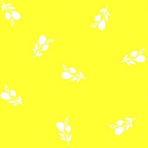 "8"" Flamingo Park White Branches / Bright Yellow"