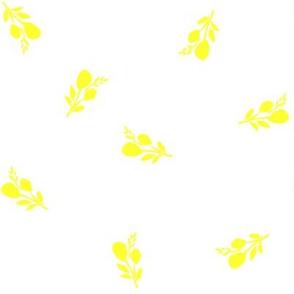"8"" Flamingo Park Bright Yellow Branches / White Background"