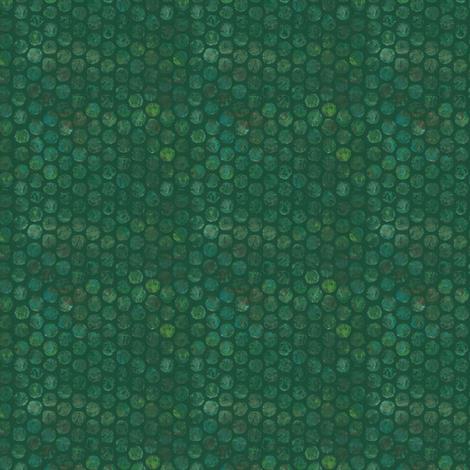 Armadillo Dots Green fabric by beckarahn on Spoonflower - custom fabric