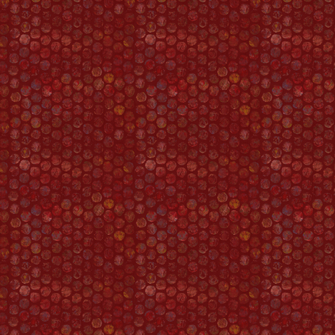 Armadillo Dots Red fabric by beckarahn on Spoonflower - custom fabric