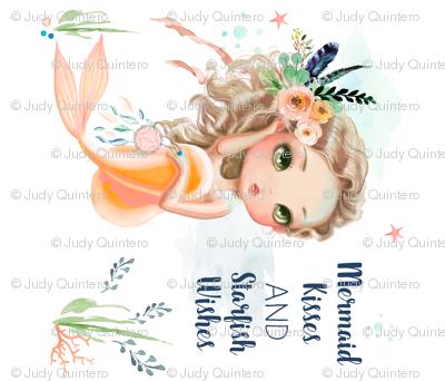 Mermaid / Peach Boho