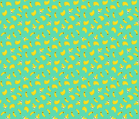 cool bananas mint - half scale fabric by misstiina on Spoonflower - custom fabric