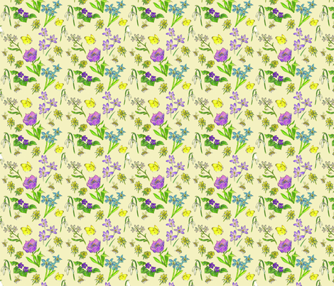 Spring_wildflowers fabric by sandy_at_sound_of_wings on Spoonflower - custom fabric