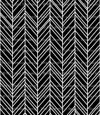 herringbone feathers black
