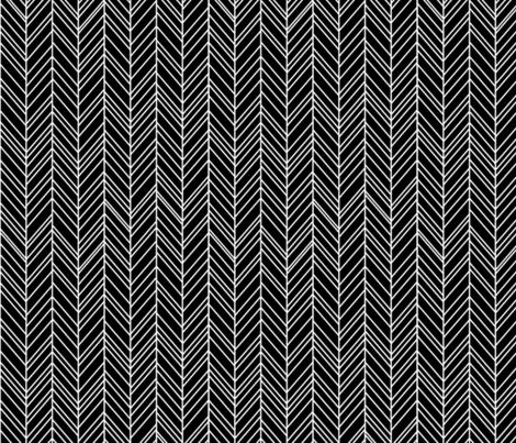 herringbone feathers black fabric by misstiina on Spoonflower - custom fabric