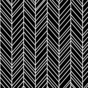 herringbone feathers black