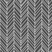 herringbone feathers dark grey