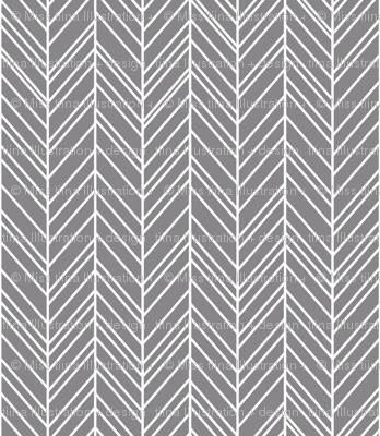 herringbone feathers granite grey