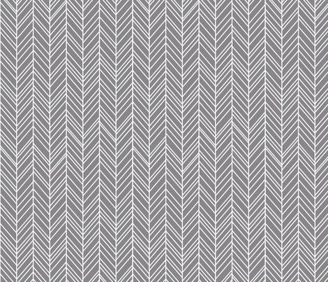 herringbone feathers granite grey fabric by misstiina on Spoonflower - custom fabric