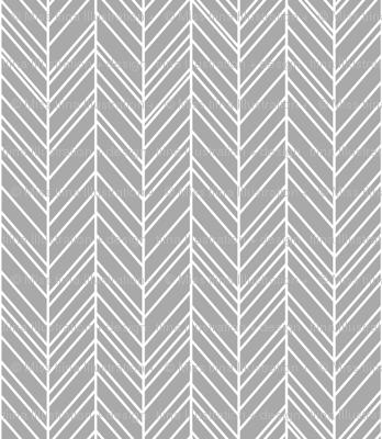 herringbone feathers grey