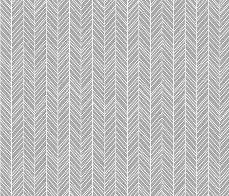 herringbone feathers grey fabric by misstiina on Spoonflower - custom fabric