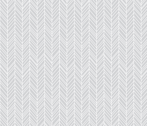 herringbone feathers light grey fabric by misstiina on Spoonflower - custom fabric