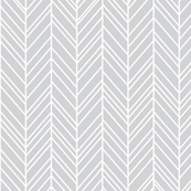 herringbone feathers light grey