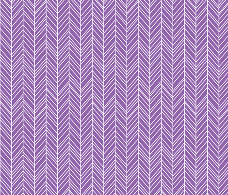 herringbone feathers amethyst fabric by misstiina on Spoonflower - custom fabric