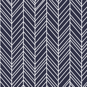 herringbone feathers midnight blue