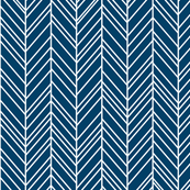 herringbone feathers navy blue