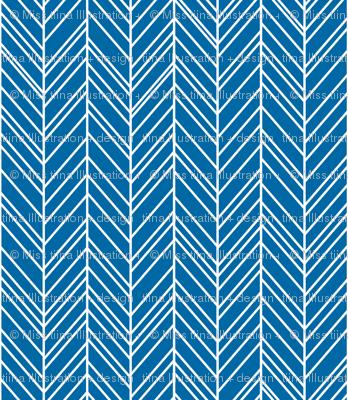 herringbone feathers royal blue