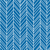 herringbone feathers royal blue