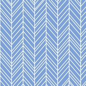 herringbone feathers cornflower blue