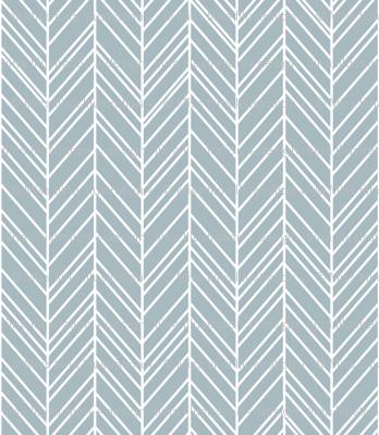 herringbone feathers slate blue
