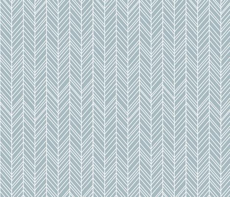 herringbone feathers slate blue fabric by misstiina on Spoonflower - custom fabric