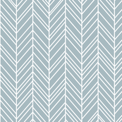 herringbone feathers slate blue