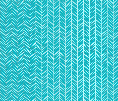herringbone feathers surfer blue fabric by misstiina on Spoonflower - custom fabric