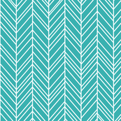 herringbone feathers teal