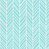 herringbone feathers light teal
