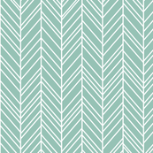 herringbone feathers faded teal