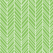 herringbone feathers apple green
