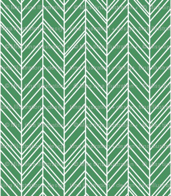herringbone feathers kelly green