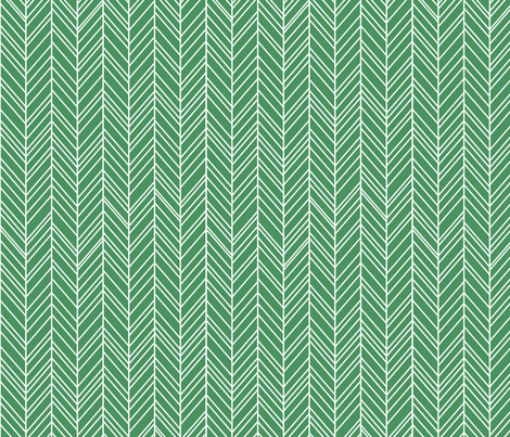 herringbone feathers kelly green fabric by misstiina on Spoonflower - custom fabric