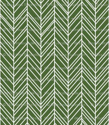 herringbone feathers hunter green