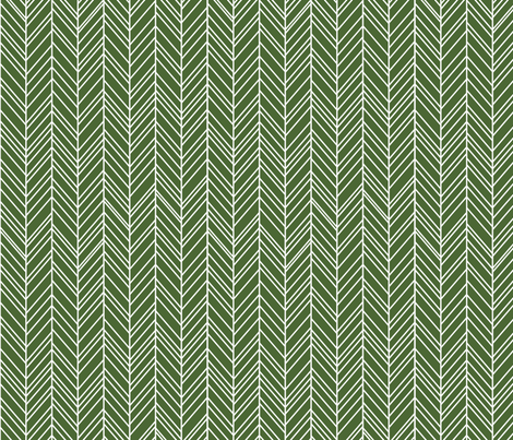 herringbone feathers hunter green fabric by misstiina on Spoonflower - custom fabric