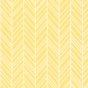 herringbone feathers sunshine yellow