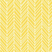 herringbone feathers butter yellow