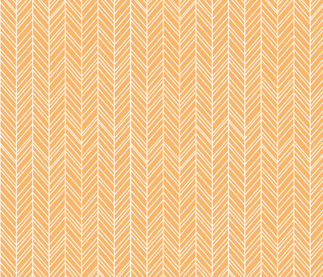 herringbone feathers mango fabric by misstiina on Spoonflower - custom fabric