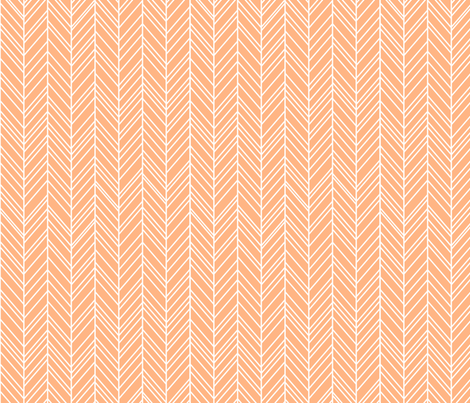 herringbone feathers sherbert fabric by misstiina on Spoonflower - custom fabric